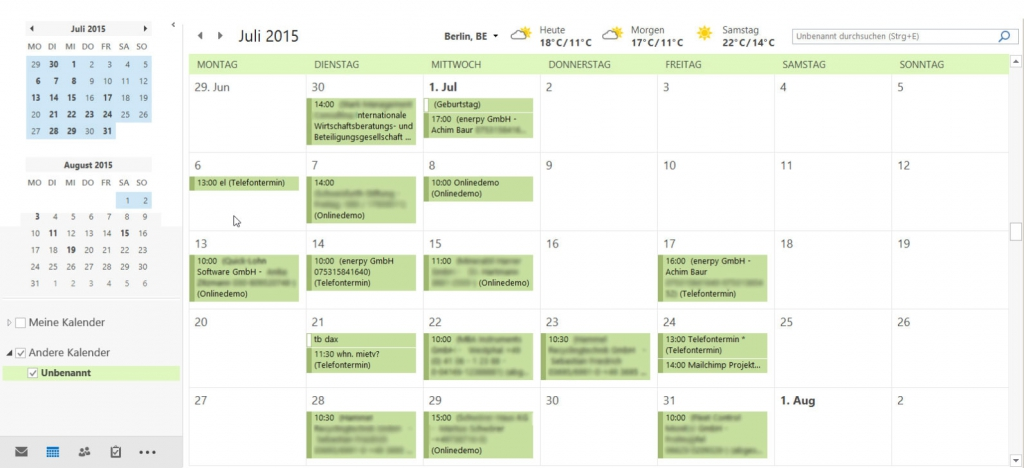iCal mit Outlook