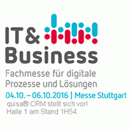 quisa CRM auf der IT & Business Messe Stuttgart 2016 ehemals CRM-expo